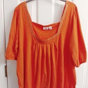 Cato Plus Size Orange Shirt or Blouse Size 22 24